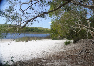 Brown lake tranquil resting spot on Nth Stradbroke Island