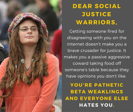 Image result for social justice warriors are idiots