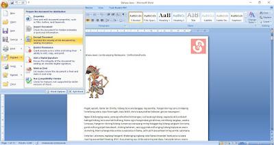 Cara Memberi Password Pada File Microsoft Word