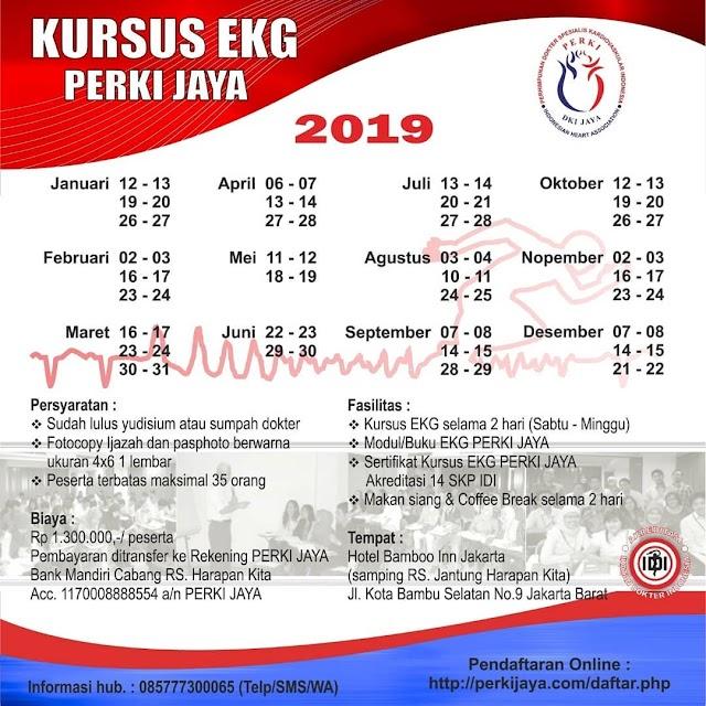 Pelatihan EKG PERKIJAYA JAKARTA Tahun 2019