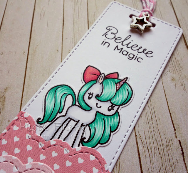 Bookmark using Magical Unicorns from The Greeting Farm