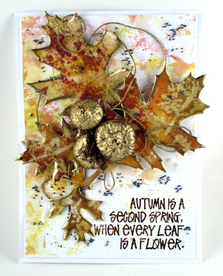 Stampers Anonymous Music Stampers Anonymous Wildflowers Wendy Vecchi Autumn Art Ranger Distress Oxides Seth Apter Vintage Beeswax For the Funkie Junkie Boutique