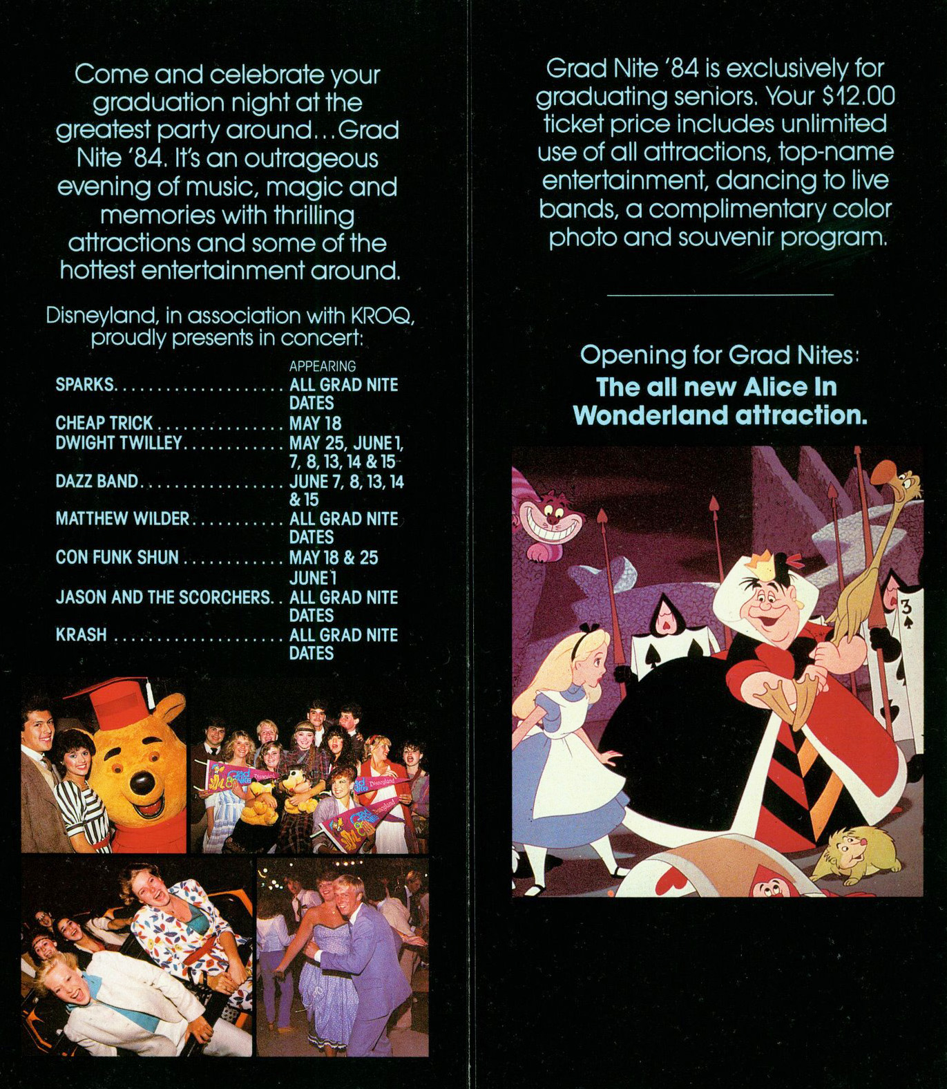 Vintage Disneyland Tickets: Grad Nite 82!
