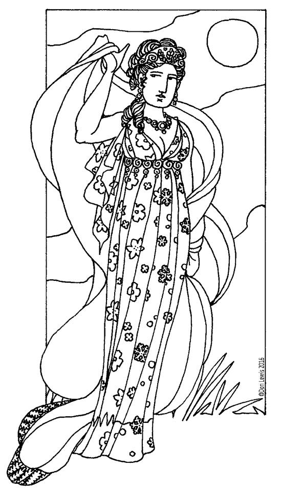 that so raven coloring pages   The White Raven: Persephone & Demeter