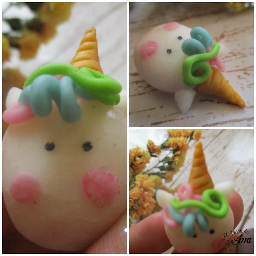 Unicornios en porcelana fría.