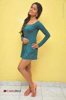 Telugu Actress Prasanthi Stills in Green Short Dress at Swachh Hyderabad Cricket Press Meet  0134.JPG