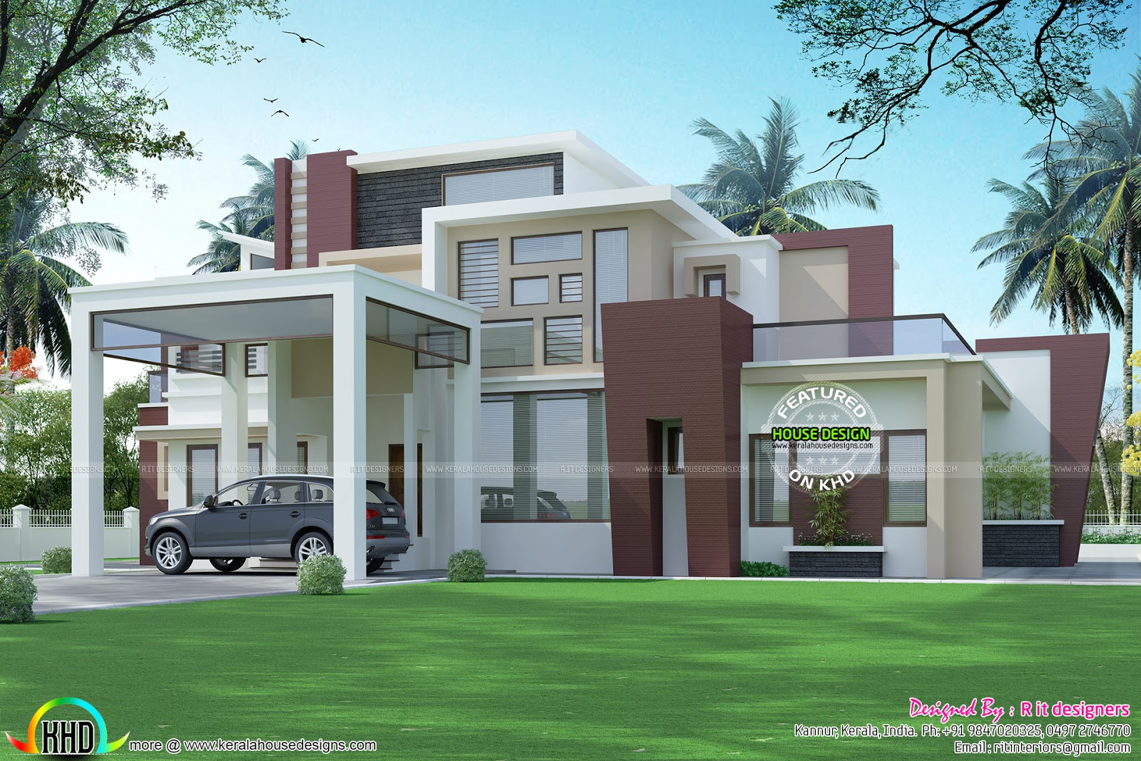 Height Of A House Double Height Living Room Contemporary Home Kerala Home