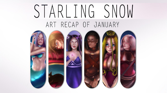 My Art Recap of January | Digital Paintings
