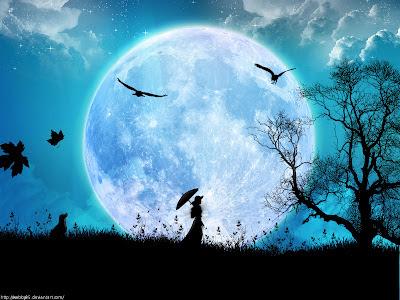 Resultado de imagem para lua cheia  mística