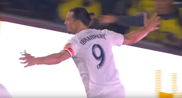Zlatan Ibrahimovic scores game winner for LA Galaxy vs Chicago Fire in MLS season opener