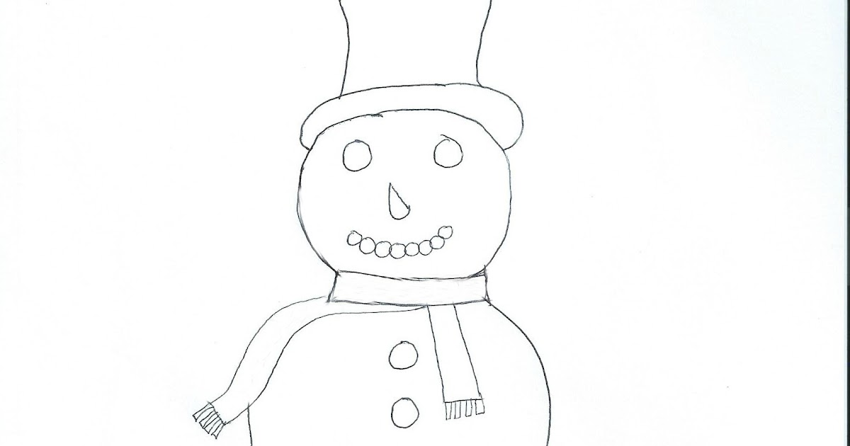 Daily Messes: Snowman Coloring Page