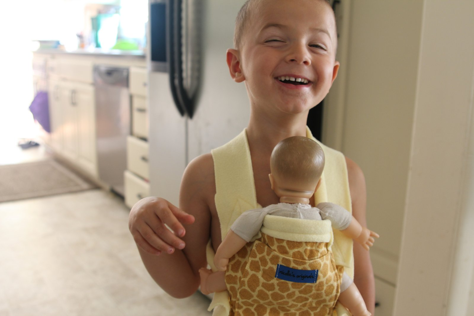 Nicolle S Originals Diy Child S Ergo Baby Doll Carrier Tutorial