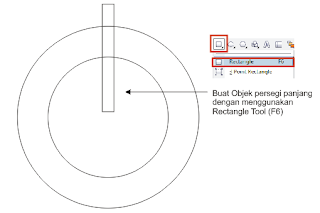 membuat objek dengan rectangle tool