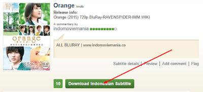 Cara Download Subtitle FILM di Ganool 13