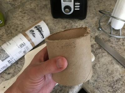 cardboard tube cut