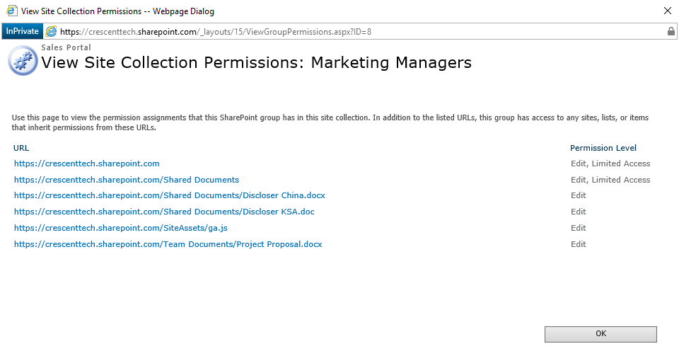 sharepoint online check group permission