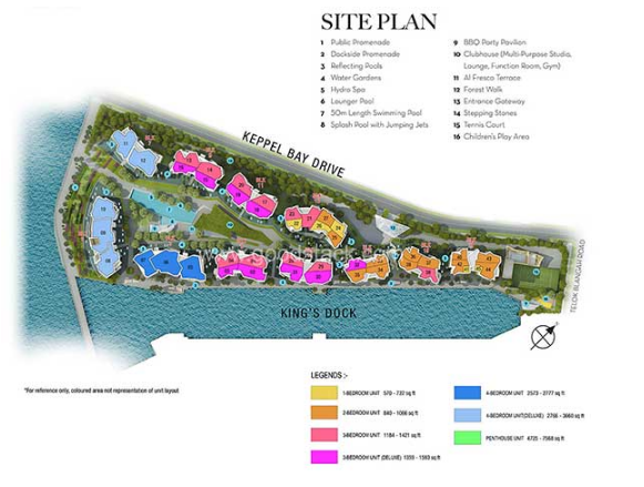 Corals @ Keppel Bay Site Plan