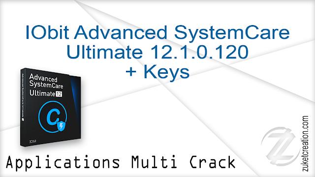 IObit Advanced SystemCare Ultimate 12.1.0.120 + Keys     110 MB