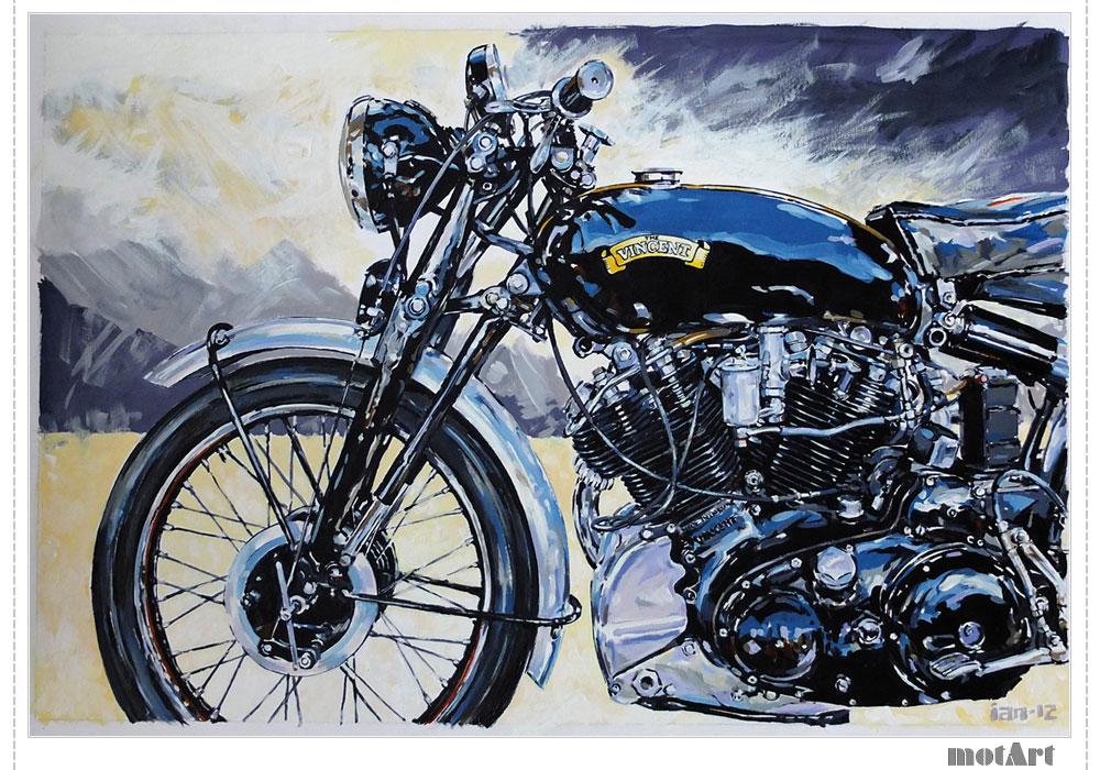 motorcycle paintings biker artwork cater motorcycles drawing painting motart posters diamond joy studio ian david themotart journal
