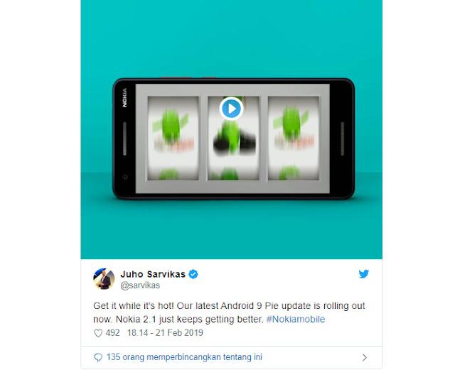 Penguna Nokia 2.1 Mulai Dapat Pembaruan Android Pie