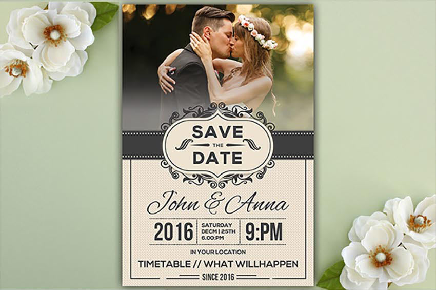 Save the Date Invitation Card