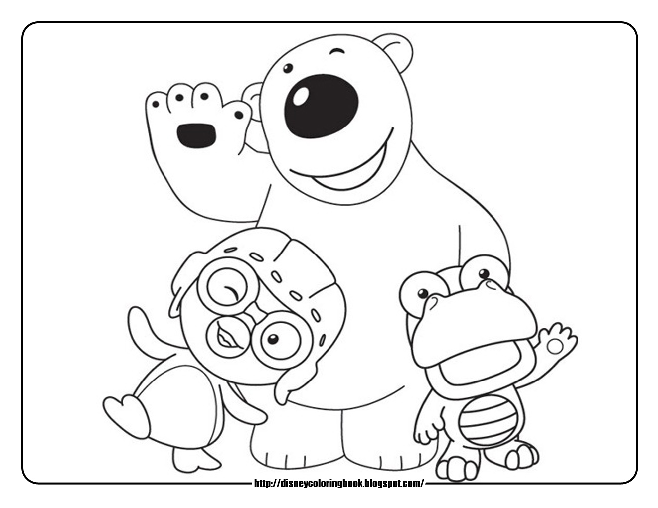 Pororo The Little Penguin: Free Disney Coloring Sheets