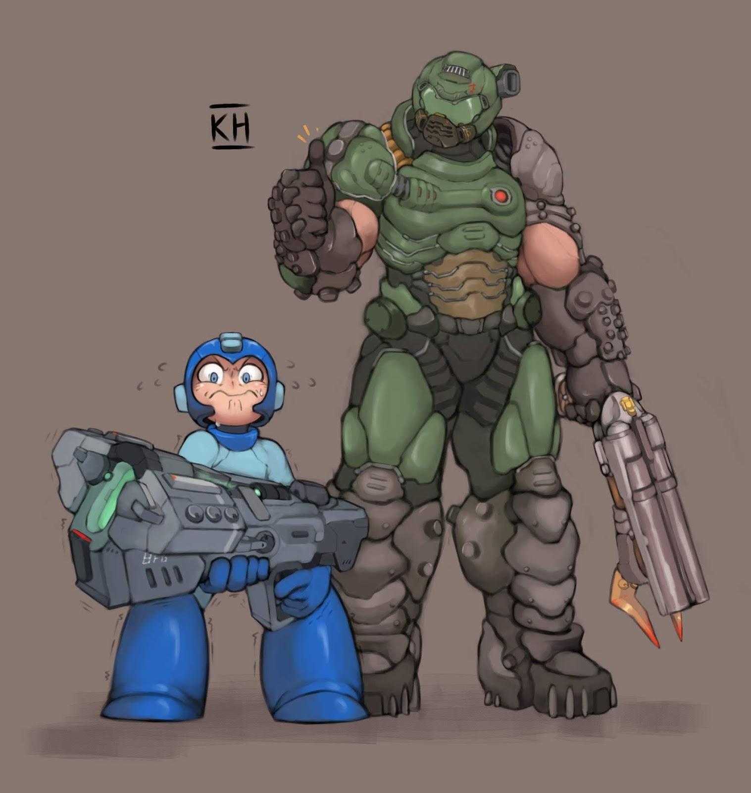 Tá na hora do Mega Man usar arma de homem