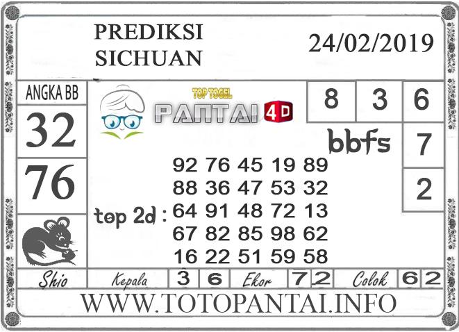 """Prediksi Togel """"SICHUAN"""" PANTAI4D 24 FEBRUARI 2019"""