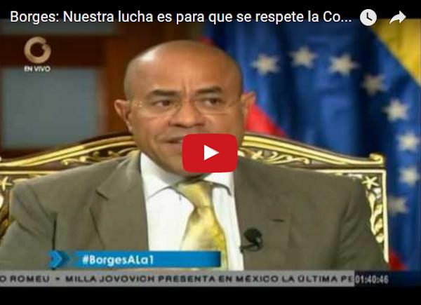 Vladimir Villegas entrevistando a Julio Borges como presidente de la AN