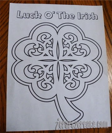 Make The Cut!, coloring pages, St. Patrick's Day, Lettering Delights
