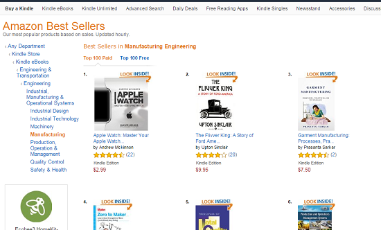 My Book Ranked #3 Amazon Best Sellers in Kindle eBooks