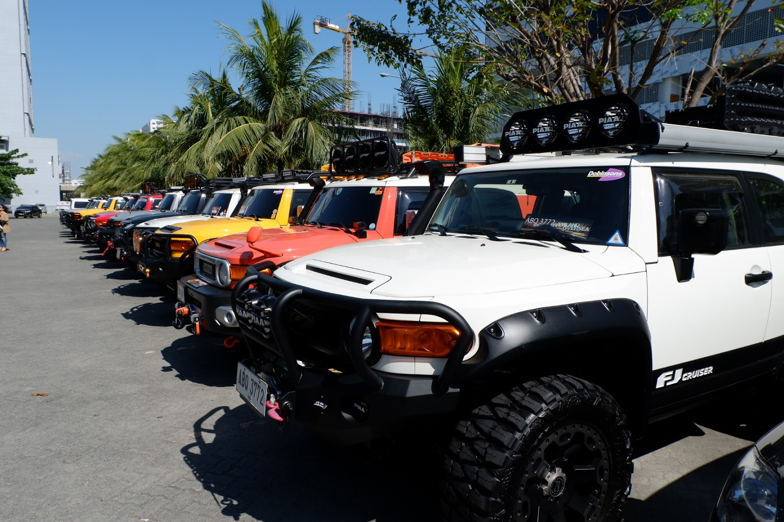 fj cruiser lined up here in Manila Mall of Asia