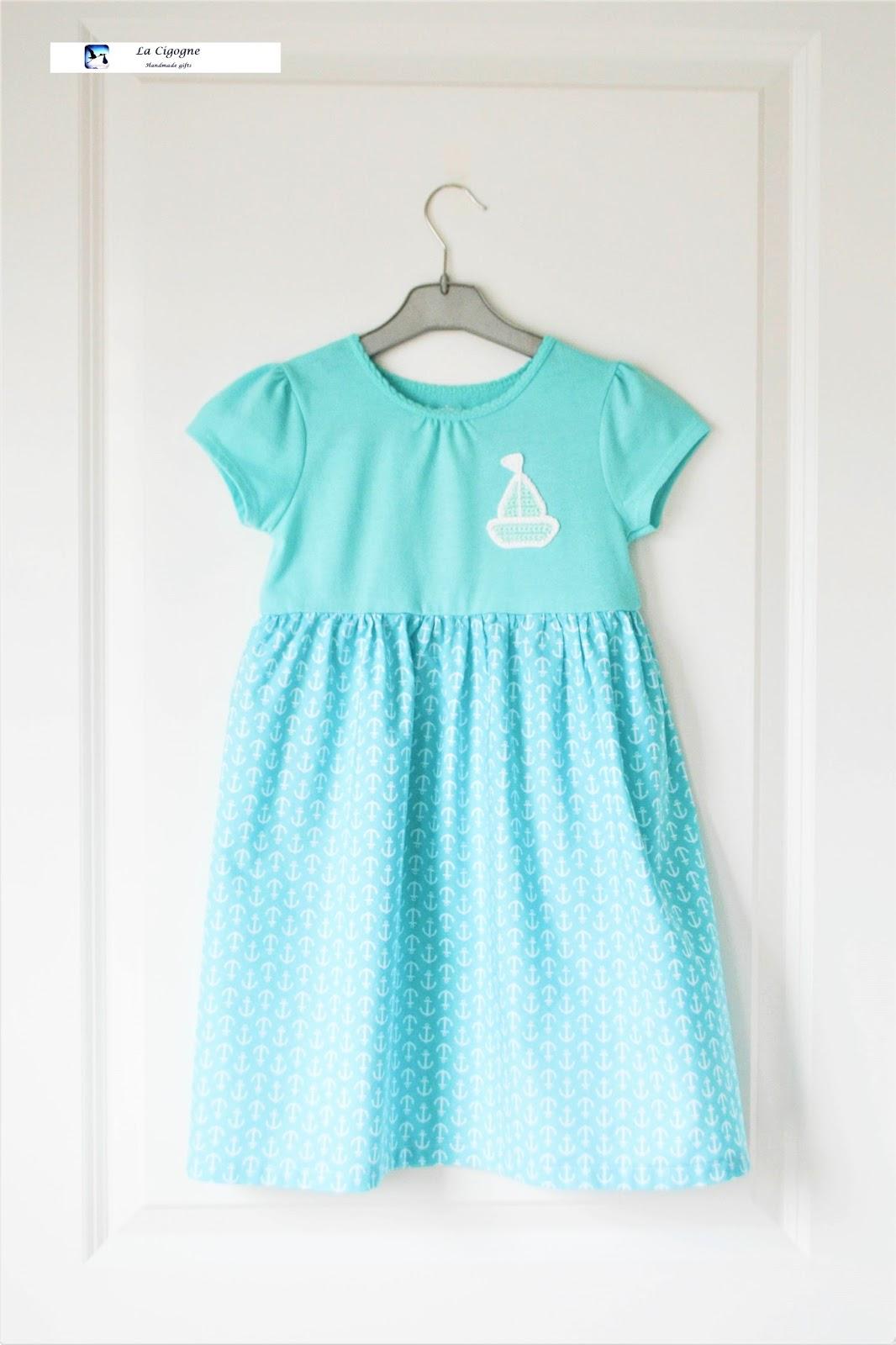 La Cigogne Free Pattern Of Crochet Sailboat And Blue Toddlers Dress