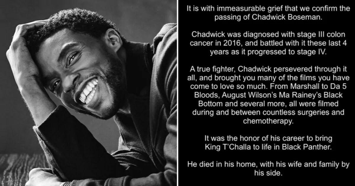Chadwick Boseman's Posthumous Tweet Announcing The Actor's Death Becomes Most 'Liked' Twitter Post In History
