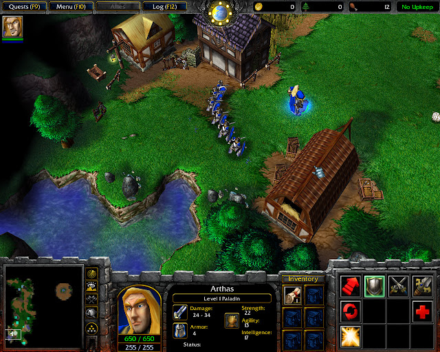 The Defense of Strahnbrad Mission 3 | Arthas Screenshot | Warcraft 3: Reign of Chaos