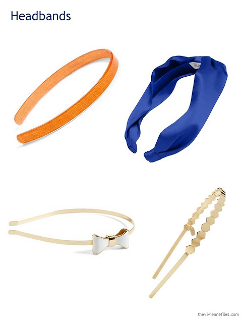 A Capsule Wardrobe in Beige, Bright Blue and Orange: Expanding Your Accessories - headbands