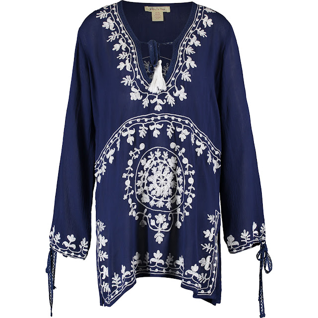 navy blue tunic beach cover up