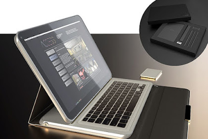Future Laptop Tablet for Work Concept