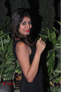 Actress Kavya Kumar Stills in Black Short Dress at F Club pre soft Launch  0021.JPG