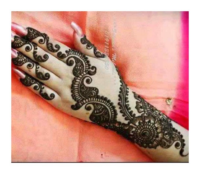 Simple Arabic Mehndi Designs for hands 2017 Images