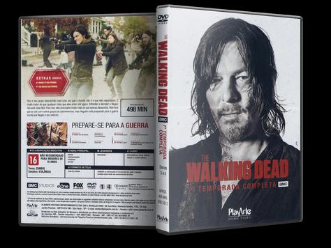 Capa DVD The Walking Dead 7ª Temporada Discos 3 a 5 (Oficial)