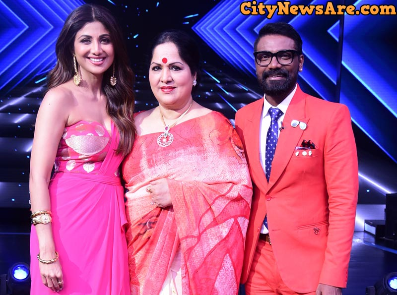 From left Shilpa Shetty, Sunanda Shetty and Remo D'Souza