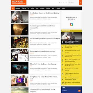 free-amp-blogspot-template-mdcamp