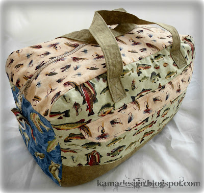 Quilted fisherman's bag by kamadesign