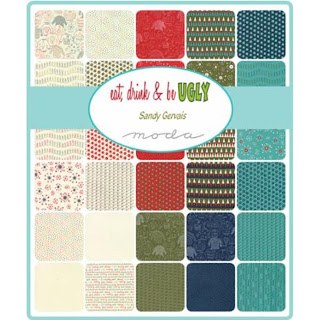 Moda Eat Drink & Be Ugly Fabric by Sandy Gervais for Moda Fabrics