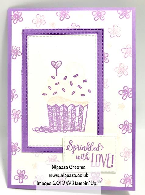 Hello Cupcake Pinkies Team Card Swap Stampin Up Nigezza Creates