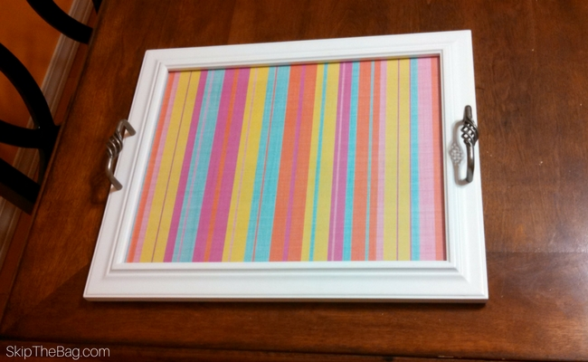 Skip The Bag: Serving Tray: Upcycled Picture Frame