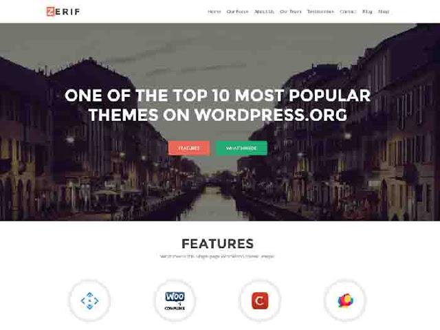 Zerif Lite WordPress Template Free Download