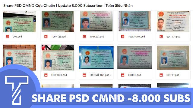 Share PSD CMND Chuẩn 2018 | Update 8.000 Subscriber | Toàn Siêu Nhân Blog