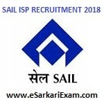 SAIL Technician Trainee Recruitment 2018